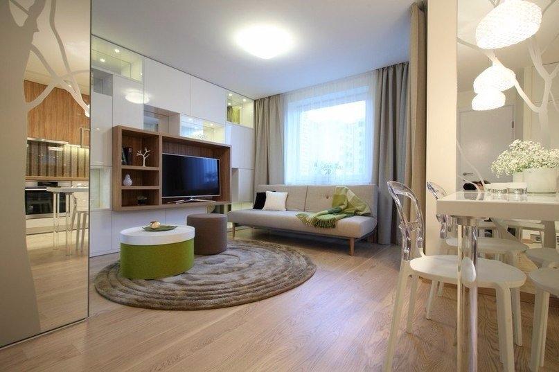 Однокомнатные квартиры-студии дизайн интерьера