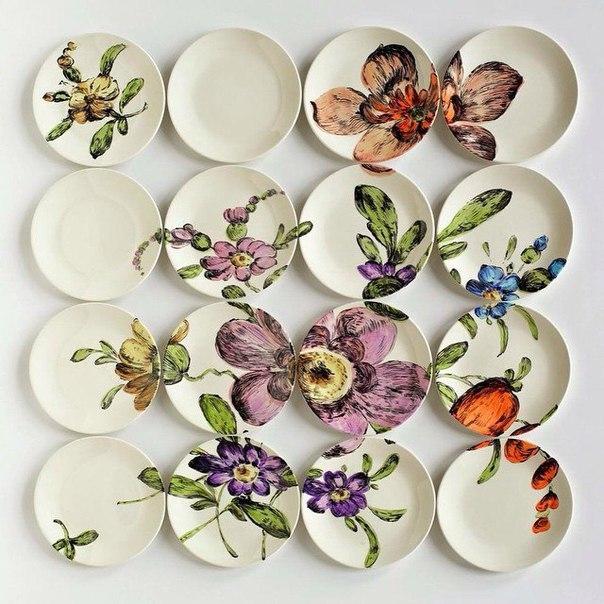 Декор тарелок своими руками на стену 26