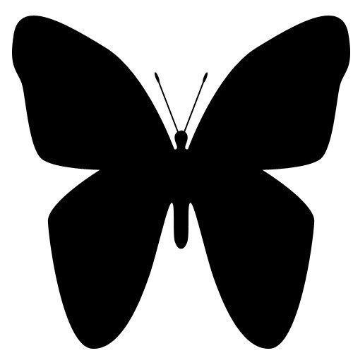 Бабочки для украшения стены трафарет